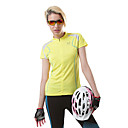 ACANU Women's Stand Collar Cycling T-shirts Yellow