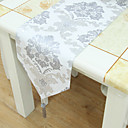 Argent discussion Motif floral Chemin de table