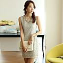 cou mini robe ronde, mousseline multicolore parti / imprimer des femmes