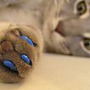 bløde negle hætter med lim til hunde katte kløer - 20 stk / pakke (xs-l, assorterede farver)