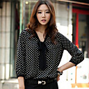 Women's Polka Dots Bow Blouse