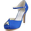 Wedding Shoes - Sandálias - Saltos / Peep Toe - Preto / Azul / Amarelo / Rosa / Roxo / Vermelho / Marfim / Branco / Prateado / Dourado -