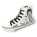 Canvas Girls' Fashion Sneaker with Lace-up
