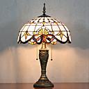 Lampe de table, 2 Light, Tiffany élégant Résine Peinture sur verre