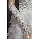 Elbow Length Fingerless Glove Lace/Tulle Bridal Gloves/Party/ Evening Gloves