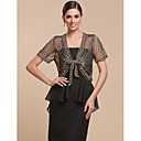 Nice Short SleeveTulle With Lace Evening Jacket (More Colors) Bolero Shrug