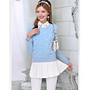 Růžový Doll Rose Pletení Long Sweater