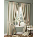 (Two Panels)Mediterranean Classic Stripe Eco-friendly Curtain