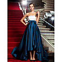 Military Ball/Formal Evening Dress - Multi-color Plus Sizes A-line/Princess Strapless Asymmetrical Satin