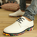 Men's Shoes Outdoor/Office & Career/Casual Leather Oxfords Black/White