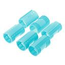 6pcs Plastic Hair Rollers(Blue)