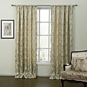 Two Panels Country Leaf Gold Bedroom Polyester Panel Curtains Drapes
