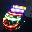 LED Neon Light Stilfuld Safeguard NylonCollar til kæledyr Hunde (assorterede farver, størrelser)