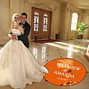 decoração do casamento de bordo personalizado folha decalque pista de dança (mais cores)