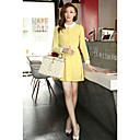 Women's Spring Pan Collar Dress With Belt