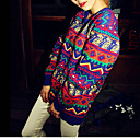 Women's Multi-color Pullover , Casual Long Sleeve