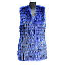 Fur Vest With Sleeveless Collarless Raccoon Fur Party/Casual Vest(More Colors)