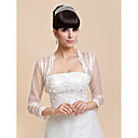 Wedding / Party/Evening / Casual Lace / Tulle Coats/Jackets 3/4-Length Sleeve Wedding  Wraps