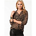 Women's Animal Print Blouse Long Sleeve