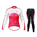 MYSENLAN Women's Long Sleeve Polyester+Spandex Breathable Cycling Suit M02048