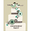 Personalized Double Side Garden Theme Engagement Party Cards - Set of 12