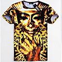 Män rund hals Fashion Print T-Shirt
