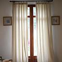 (Deux panneaux) solide lin / coton classique rideau écologique (beige)