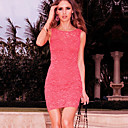 Women's Pink Dress , Sexy/Lace Sleeveless
