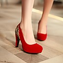Women's Shoes Round Toe Chunky Heel Pumps Shoes More Colors Available