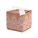 Classic Cubic Brown Paper Faovr Boxes - Set of 12