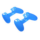 2pcs Protective Silicone Skin Case for PS4 Controller