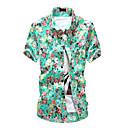 Men's Floral Print Short Sleeve Shirt