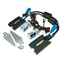 24V 55W 9006 10000K HID Xenon Lamp Conversion Kit Set With Mounting Bracket (Black Slim Ballast)