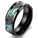 naturlig shell svart keramisk ring i verdensrommet
