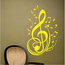 jiubai ™ nota de música em vinil autocolante para casa a decoração da parede