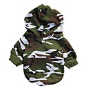 Cat / Dog Hoodie / Clothes/Clothing Green Winter Camouflage