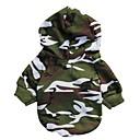 Gatti / Cani Felpe con cappuccio / Abiti / Abbigliamento Verde Inverno Camouflage