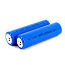 12 pcs neutre 18650 3.7v-4.2v 5000mAh batterie au lithium rechargeable bleu profond