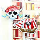 Skull Pirate Corsair Aluminium Membrane Birthday Party All Saint's Day Hallowmas Balloon Set