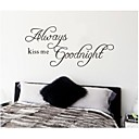 ZOOYOO® removable colorful cute always good night 3D wall sticker home decor wall stickers for kids/lbed room