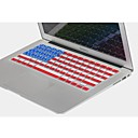 Coosbo® USA Flag Silicone Keyboard Cover Skin for 11.6