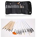 20 pcs peinture de conception d'art d'ongle détaillant brosses parsèment trousse d'outils stylo ensemble