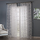 Country Two Panels Floral  Botanical White Bedroom Sheer Curtains Shades