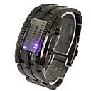 Männer führte drei Reihen von Lichtern Stahlband Lava Tisch-Armbanduhr (farbig sortiert)