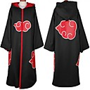 Naruto Akatsuki Black Anime Cosplay Cloak with Cap