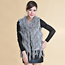 Fur Vests Sleeveless Rabbit Fur And Raccoon Collar Special Occasion/Casual Vest(More Colors)