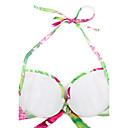 Women's Halter Bikinis , Solid Padded Bras/Underwire Bra Nylon/Spandex Multi-color