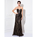 TS Couture Formal Evening / Prom / Military Ball Dress - Black Plus Sizes / Petite Sheath/Column Sweetheart Floor-length Tulle