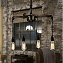 Industrial 4-light Vintage In Iron Shade Pendant Light