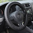Black PVC Leather Steering Wheel Cover Perforated for Dodge Car Accessories Universal Fit